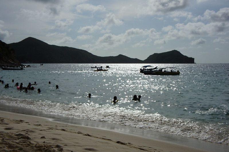 Playa Manare al atardecer