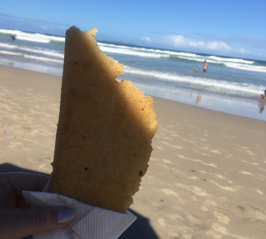 Empanadas en la playa