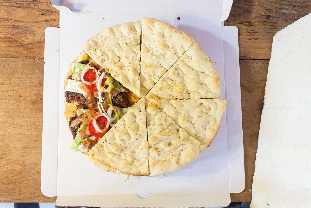 Pizza hamburguesa de pizpa.