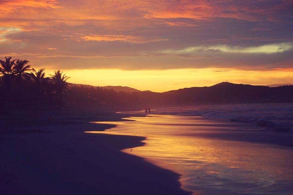 Atardecer en Playa El Agua