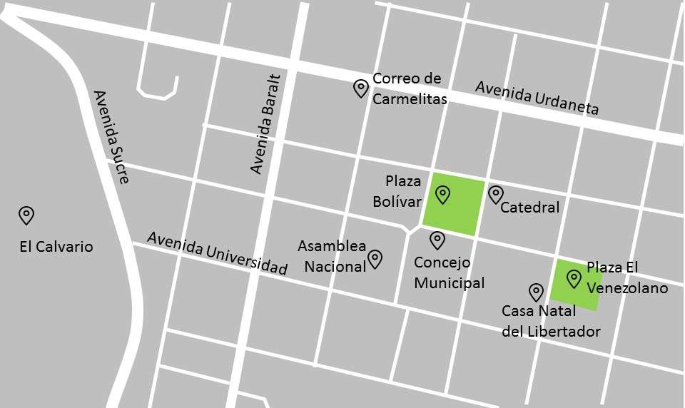 Plano del Casco Histórico de Caracas