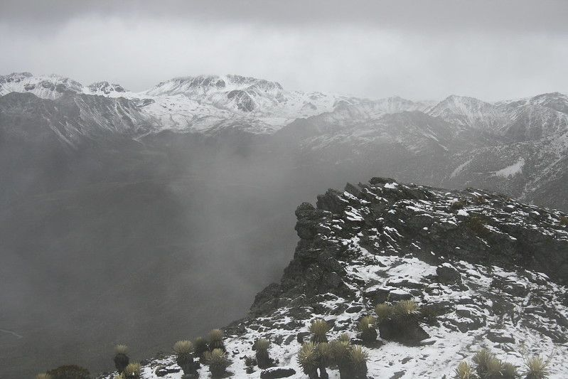 Vista del páramo nevado