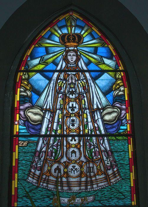 Vitral de la Virgen del Valle